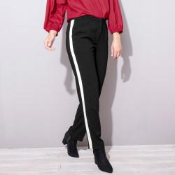 Pantalon fluide bandes contrastées