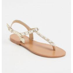 Sandales à entredoigt - doré