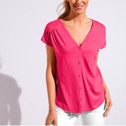 Tee-shirt boutonné uni