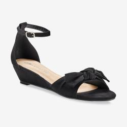Sandales compensées à noeud