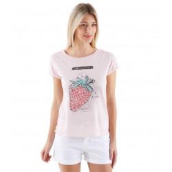 Tee-shirt imprimé coton et lin