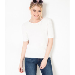 Pull manches courtes 100% coton