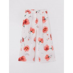 Pantalon fluide motifs fleurs