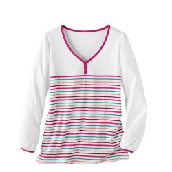 Tee-shirt rayures multicolores - manches longues
