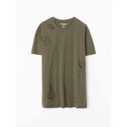 Tee-shirt à trous destroy