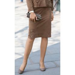 Jupe tailleur doublée en suédine souple