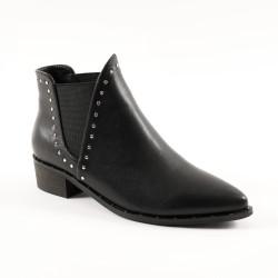 Boots cloutées élastiquées