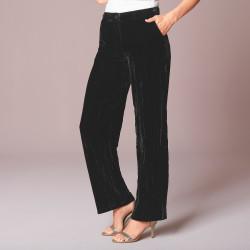 Pantalon large velours froissé