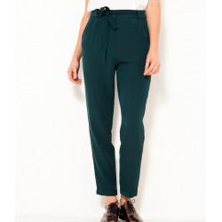 Pantalon taille haute et ceinture nouée
